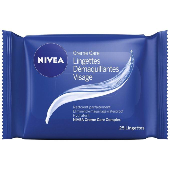 89232 Nivea Lingettes démaquillantes Crème care x 25 lingettes  منظفات قشدة التنظيف