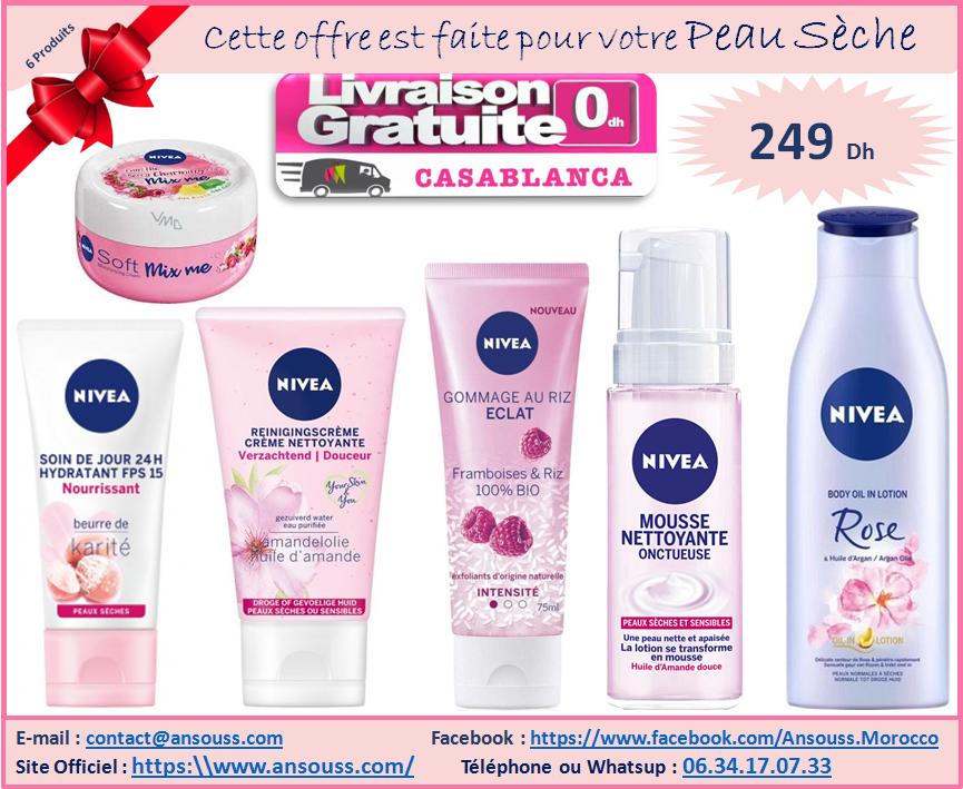Pack Nivea Cadeau Femme Vissage Peaux Sèches (5 Produits)
