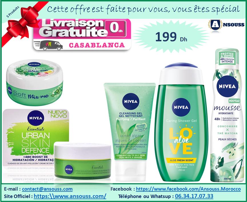 Pack Nivea Cadeau Femme Hydratante ( 5 Produits)