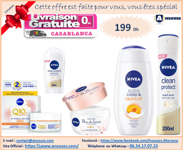 Pack Nivea Women Care & Pure (5 Produits)
