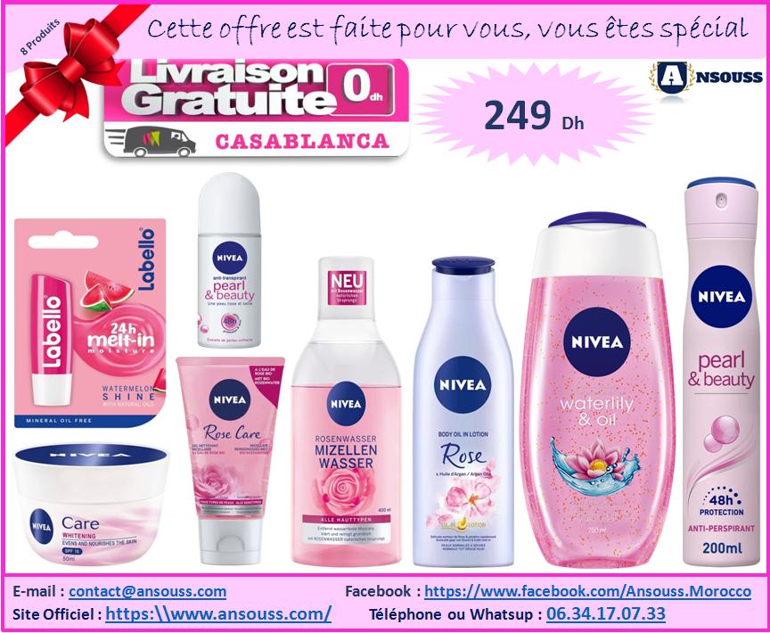 Pack Cadeau Nivea avec 8 Produits Complets + Livraison Gratuit