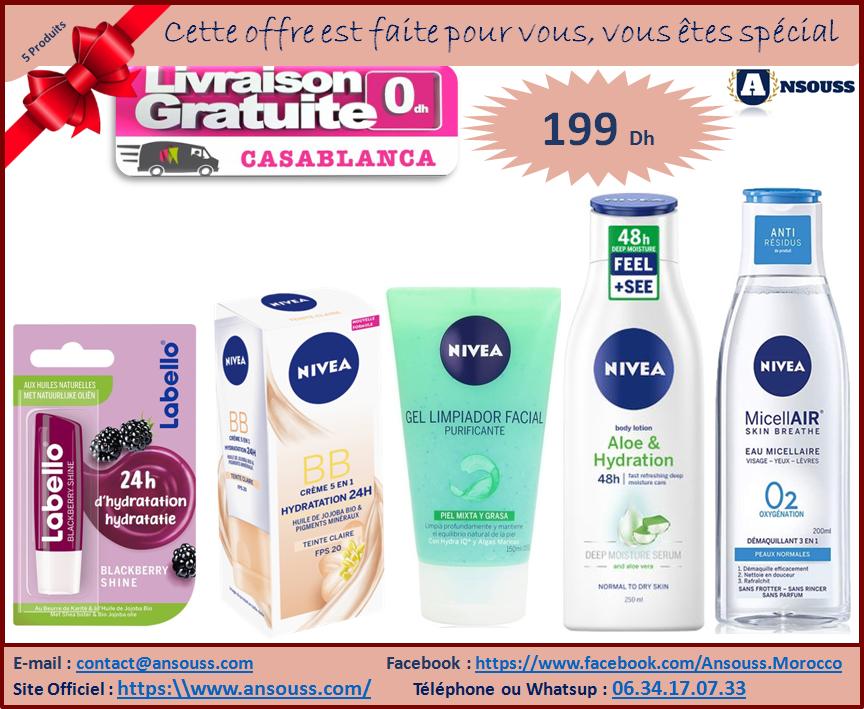 Pack Gamme Nivea Femme Cadeau avec 6 Produits