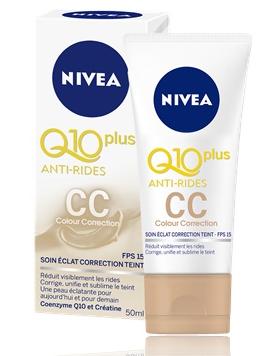 Nivea Crème CC 50 ML Soin Eclat Correction Teint Q10 Plus Anti-Rides  المعالجة الكاملة للتصحيح الإشعاعي