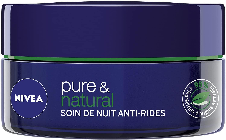 Nivea Pure et Natural Soin de Nuit Anti-Rides 50 ml  رعاية ليلية مضادة للتجاعيد