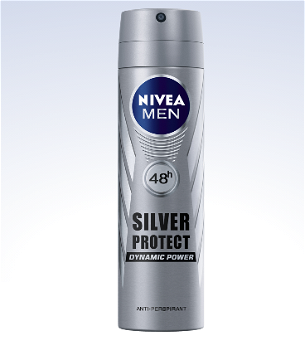 Nivea Déodorant Men Spray Silver Protect 48h 150 ml رشاش إزالة الروائح