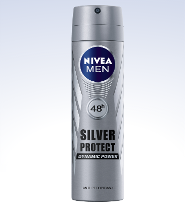 82959 Nivea Déodorant Men Spray Silver Protect 48h 150 ml رشاش إزالة الروائح