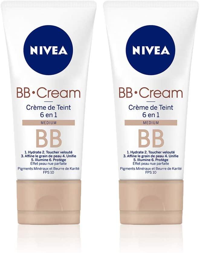 Crème de jour Nivea BB Cream Medium - 6 en 1 - Tube de 50 ml