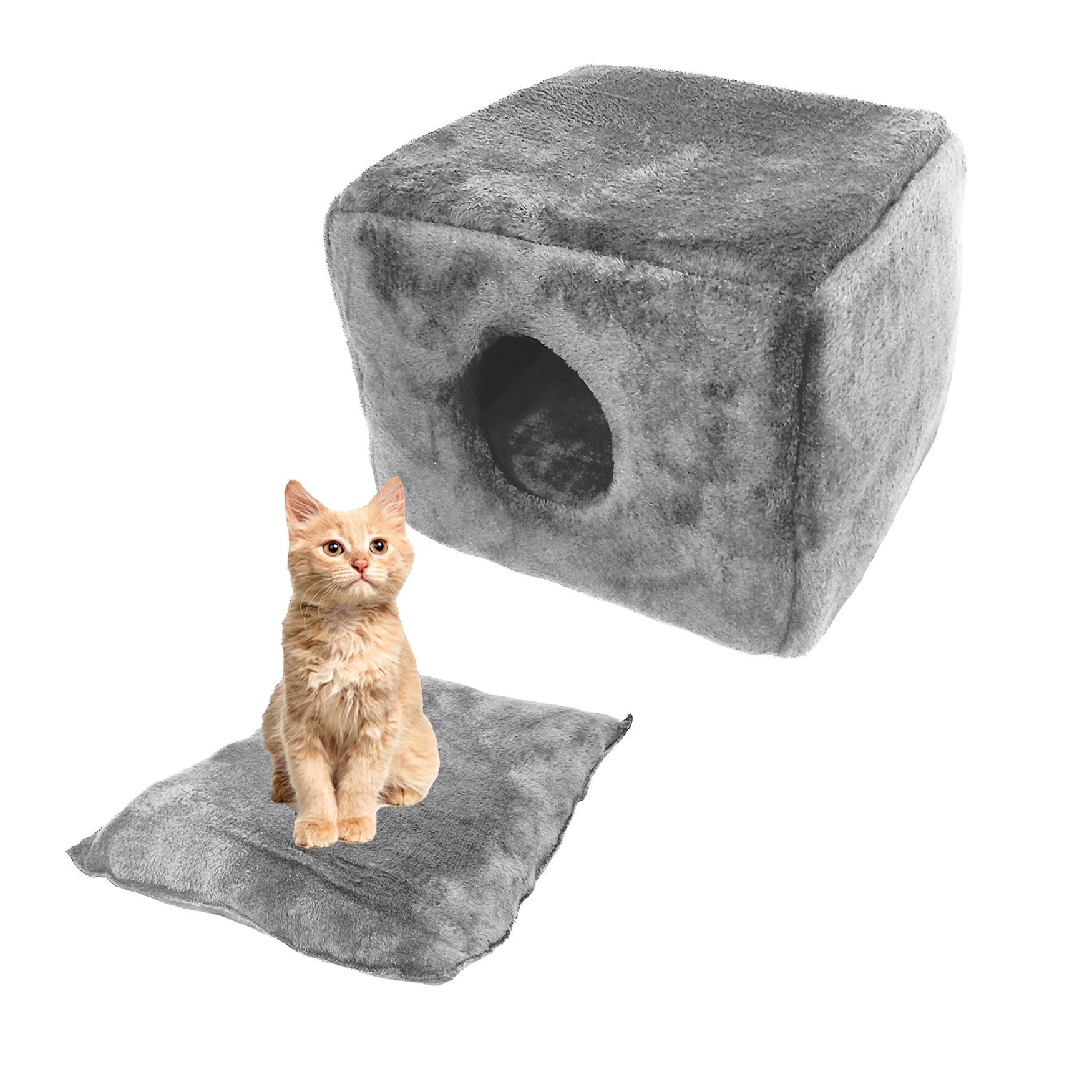 Maison/niche pour chat avec coussin