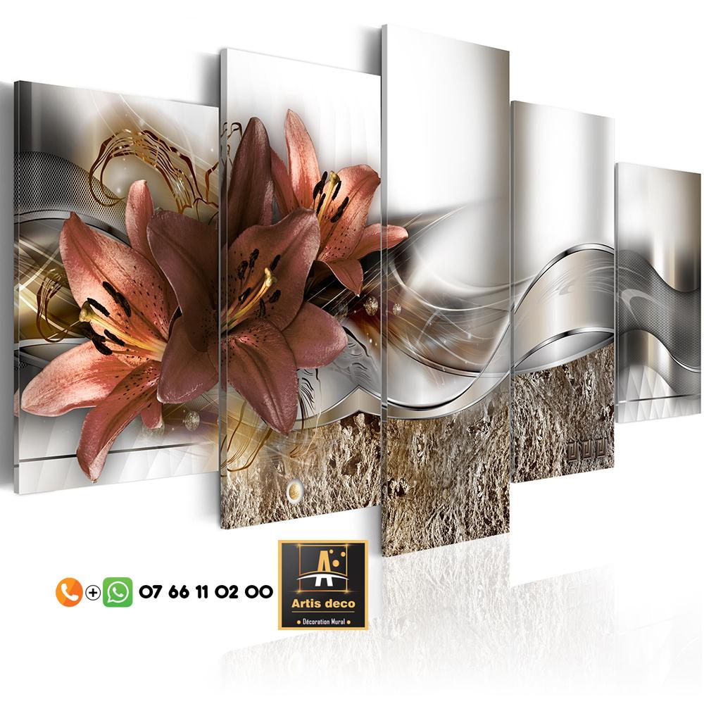 Tableau Orchidée Abstrait