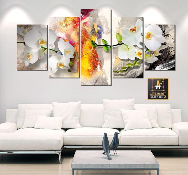 Tableau – Orchidée et couleurs