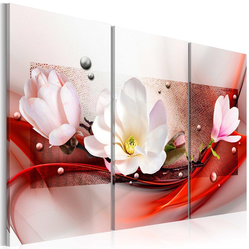 Tableau - Magnolia en rouge