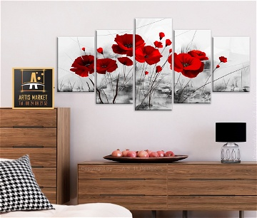 Tableau – coquelicots – rouge miracle