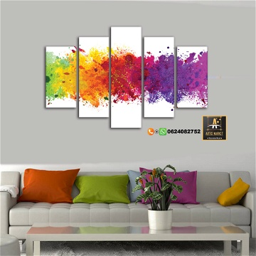 Tableau Abstrait Color Splash
