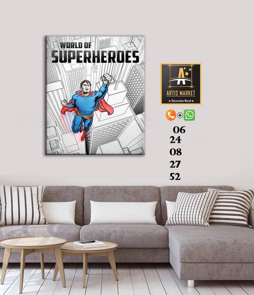 Tableau déco Superheroes
