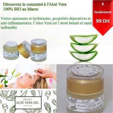 GEL d'Aloe Vera 100 % BIO ( 60ML de gel pure )