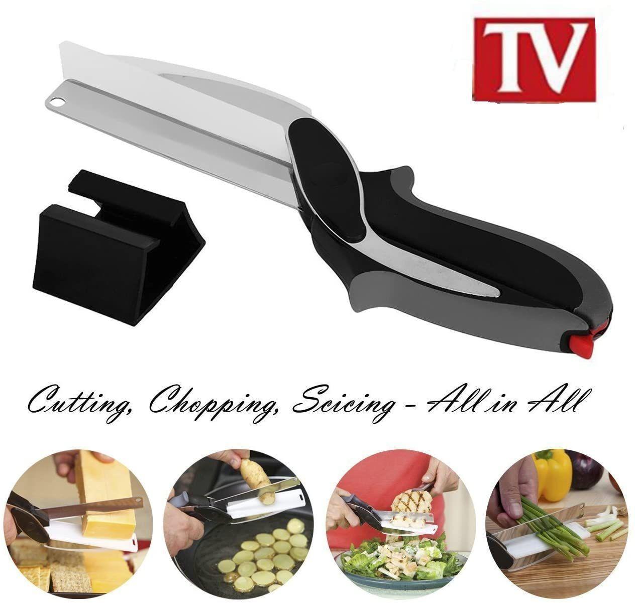 2 Couteaux de cuisine manuel multifonction