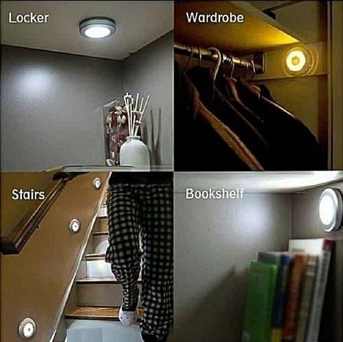 LED MAGNETIC MOTION SENSOR LIGHT ( 3 articles )