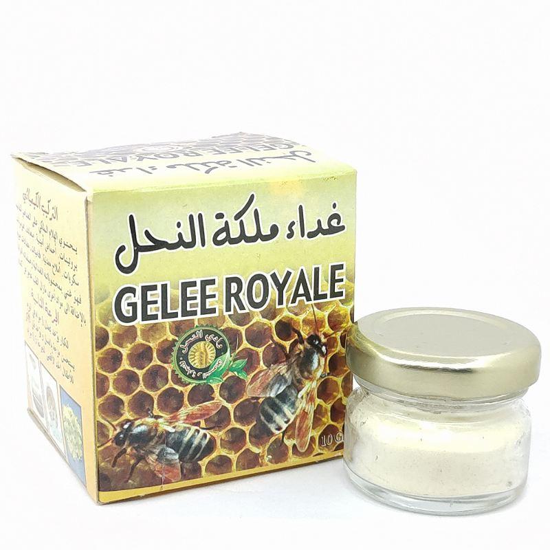 غذاء ملكات النحل يحسن دفاعات الجسم ، ويعزز جهاز المناعة ، ويحسن الرغبة الجنسية Gelée royale  Améliore les défenses de l'organisme, stimule le système immunitaire, améliore le désir sexuels