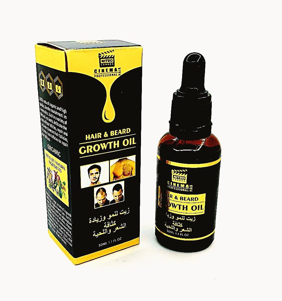 Huile pousser  densité des cheveux et de la barbe زيت لنمو وزيادة كتافة الشعر و اللحية