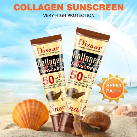 Crème solaire au collagène
