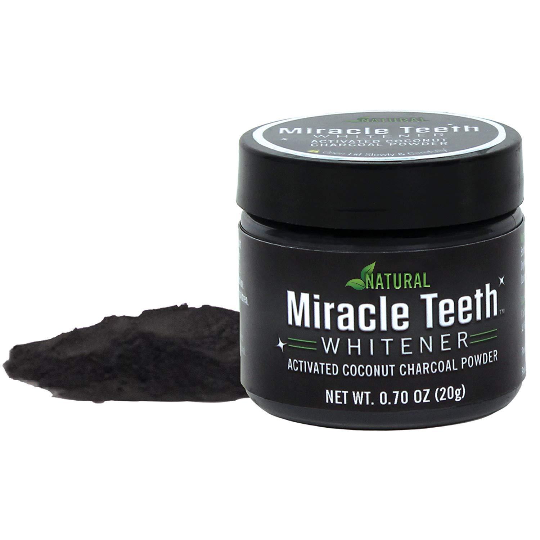 Poudre en Charbon Blanchisseur de Dents Miracle Teeth
