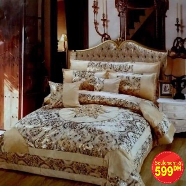 couvre lit de luxe 7 piéces