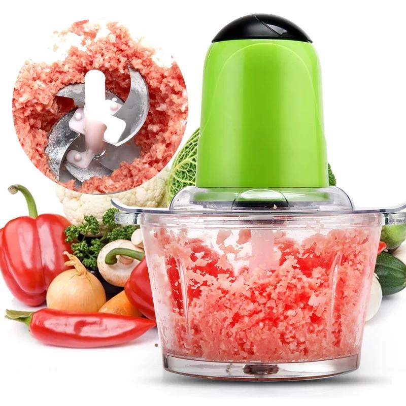 Hachoir à viande électrique haute capacité 2L vase en verre