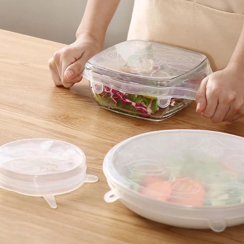 6 pièces/ensemble cuisine étanche étanchéité Silicone frais-conservation