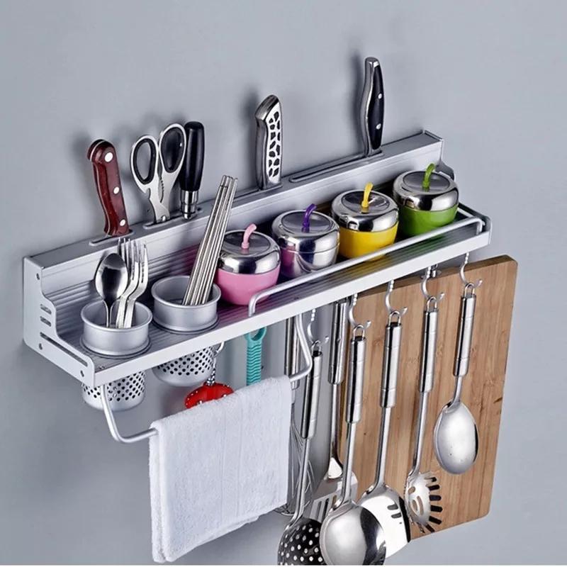 Étagère de rangement de cuisine en aluminium 60CM,