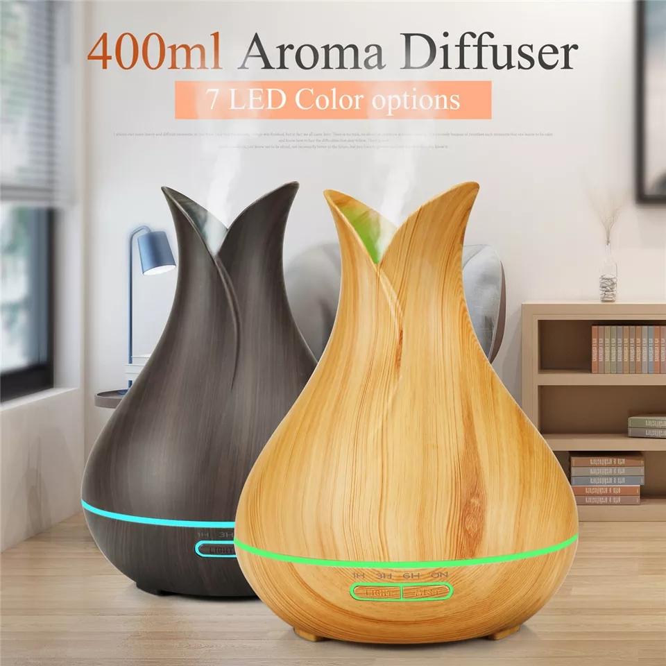 Diffuseur D'arome De 7 LED À Couleur 500 ML ET Huiles 10 ml essentielles Gratuite