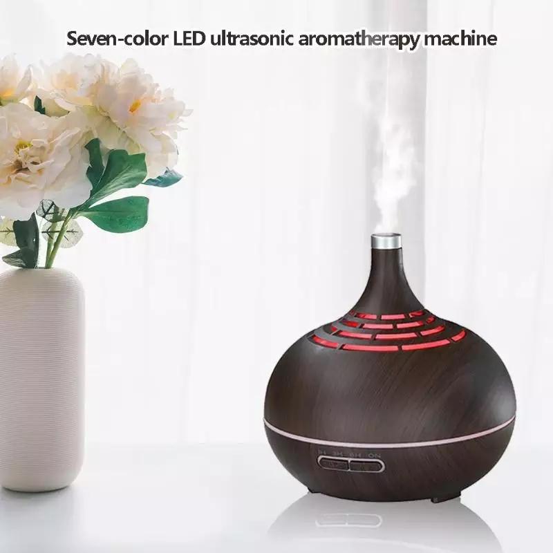 Diffuseur d'arome  400ml avec télécommande 7 LED ET Huiles 10 ml essentielles Gratuite