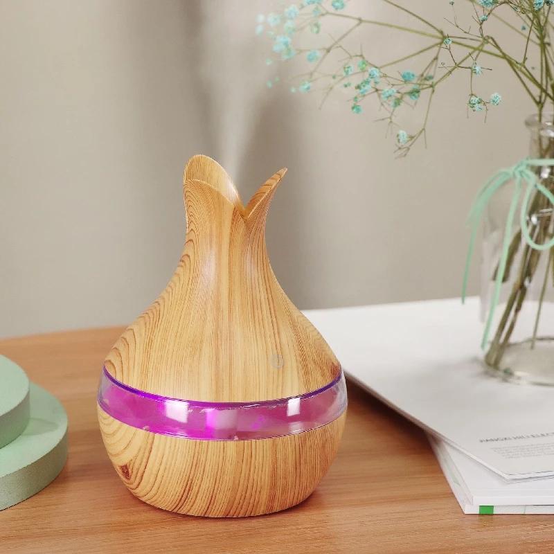 Mini Diffuseur USB de 300ml coloré créatif 7 LED ET Huiles 10 ml essentielles Gratuite