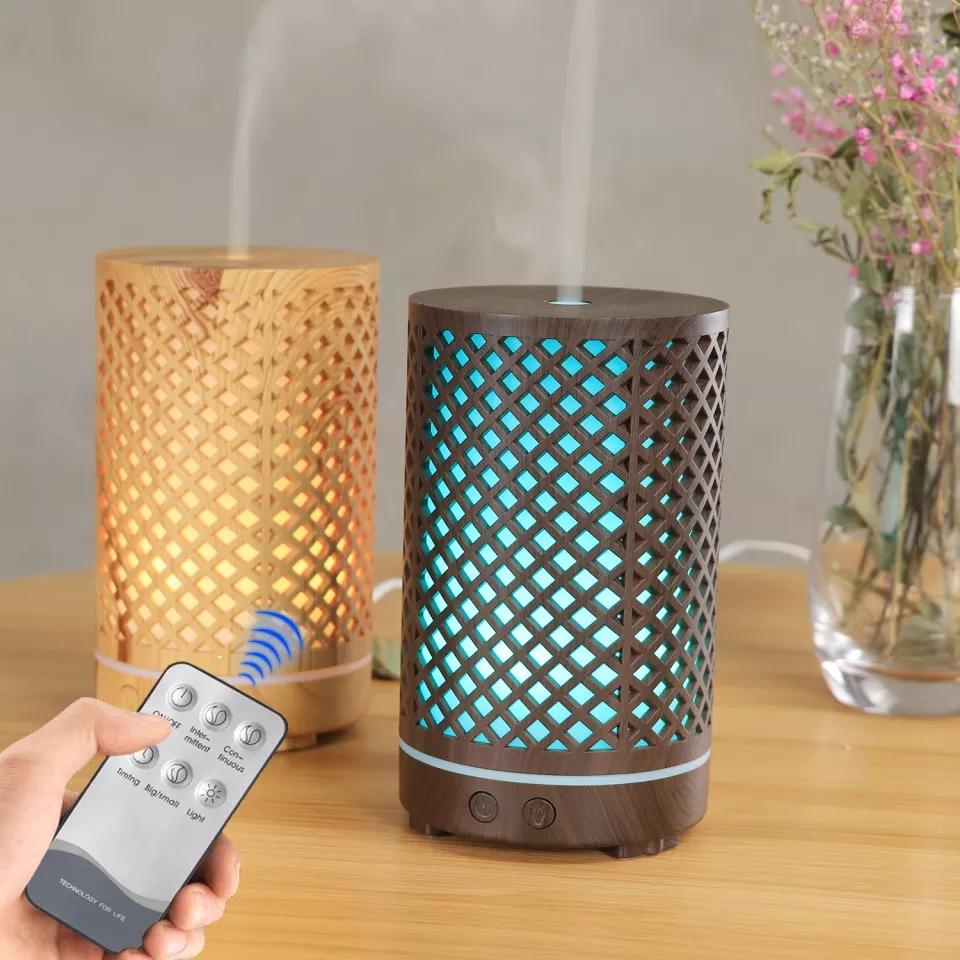 Diffuseur d'aromathérapie 7 LED couleurs avec télécommande 300ml ET Huiles 10 ml essentielles Gratuite