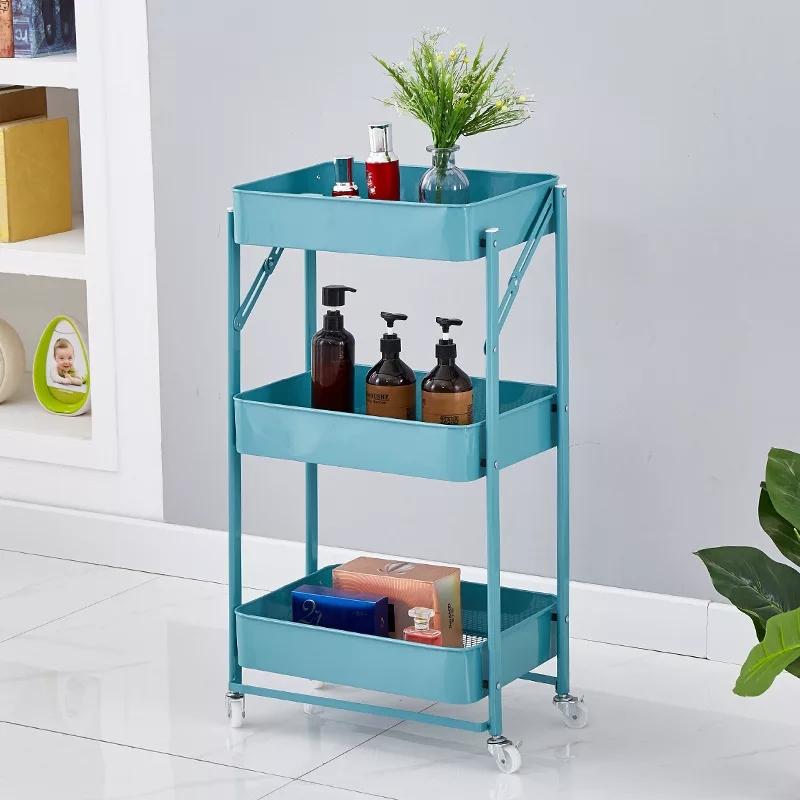 Support étagères de stockage en métal à 3 niveaux