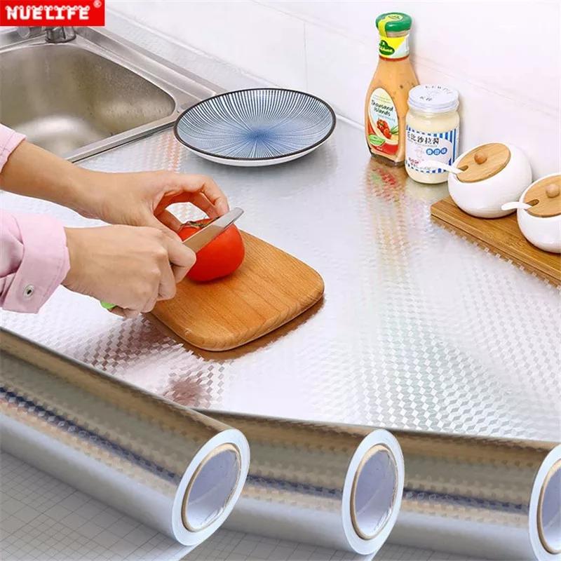 feuille d'aluminium pour cuisine, armoire, plaque de cuisson à haute température, 40 cm / 2 m