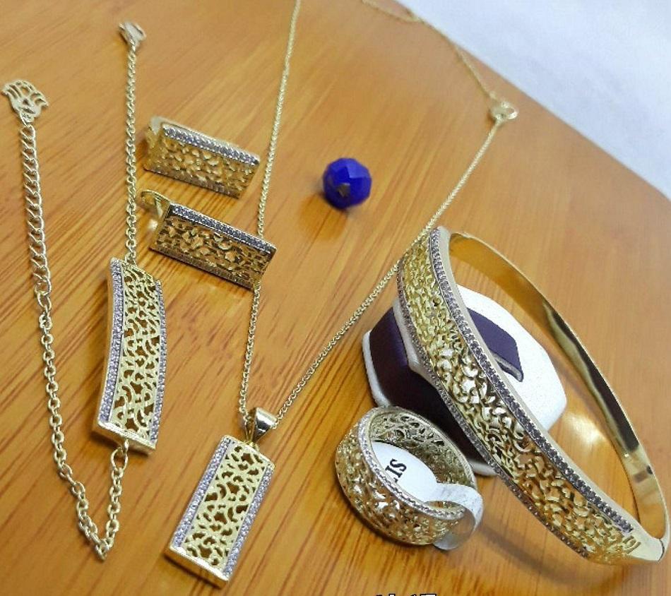طقم 5 قطع مجوهرات بلاكيور مغربية تقليدية