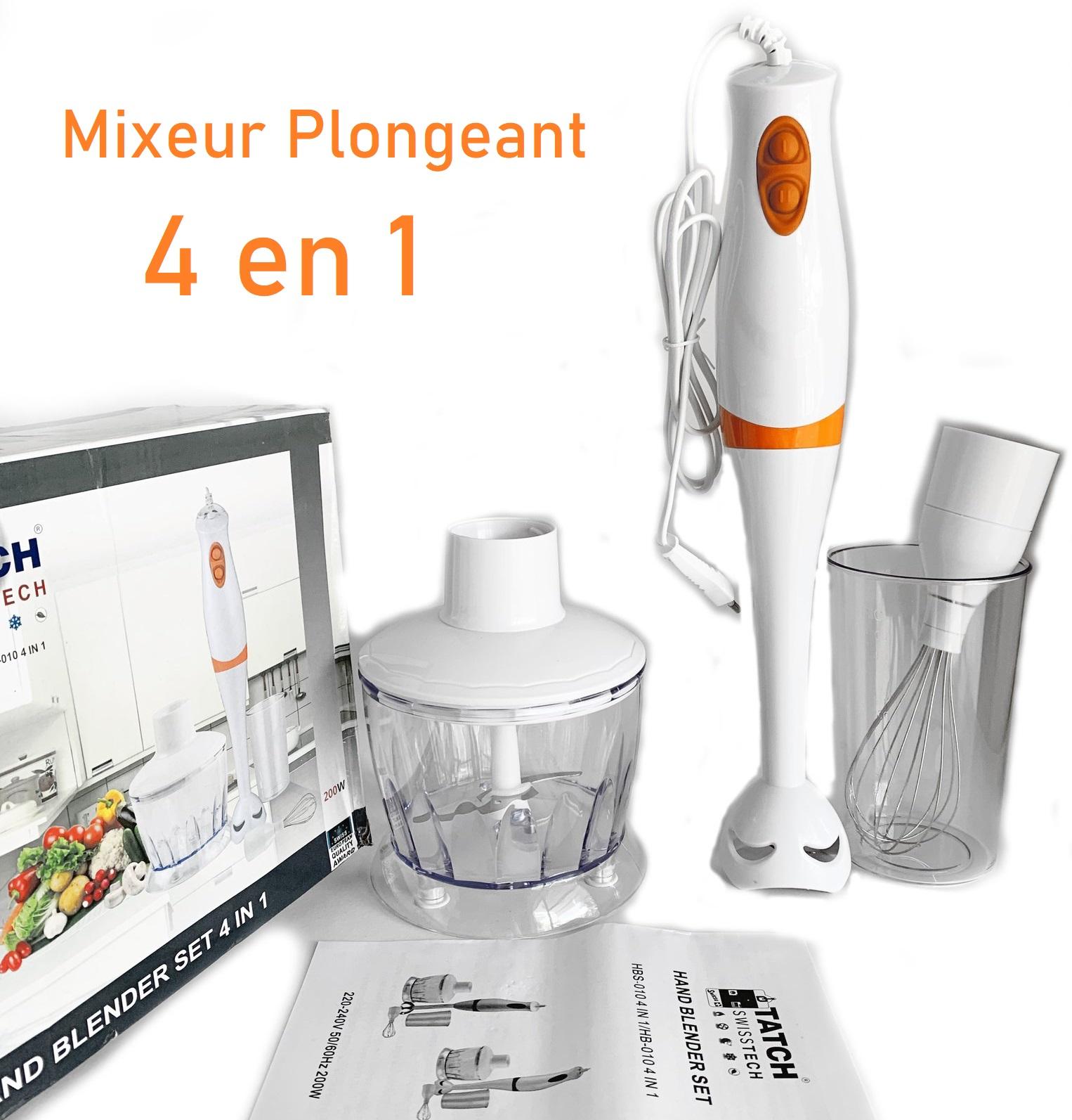 Mixeur Plongeant Maroc 4 en 1 خلاط يدوي كهربائي