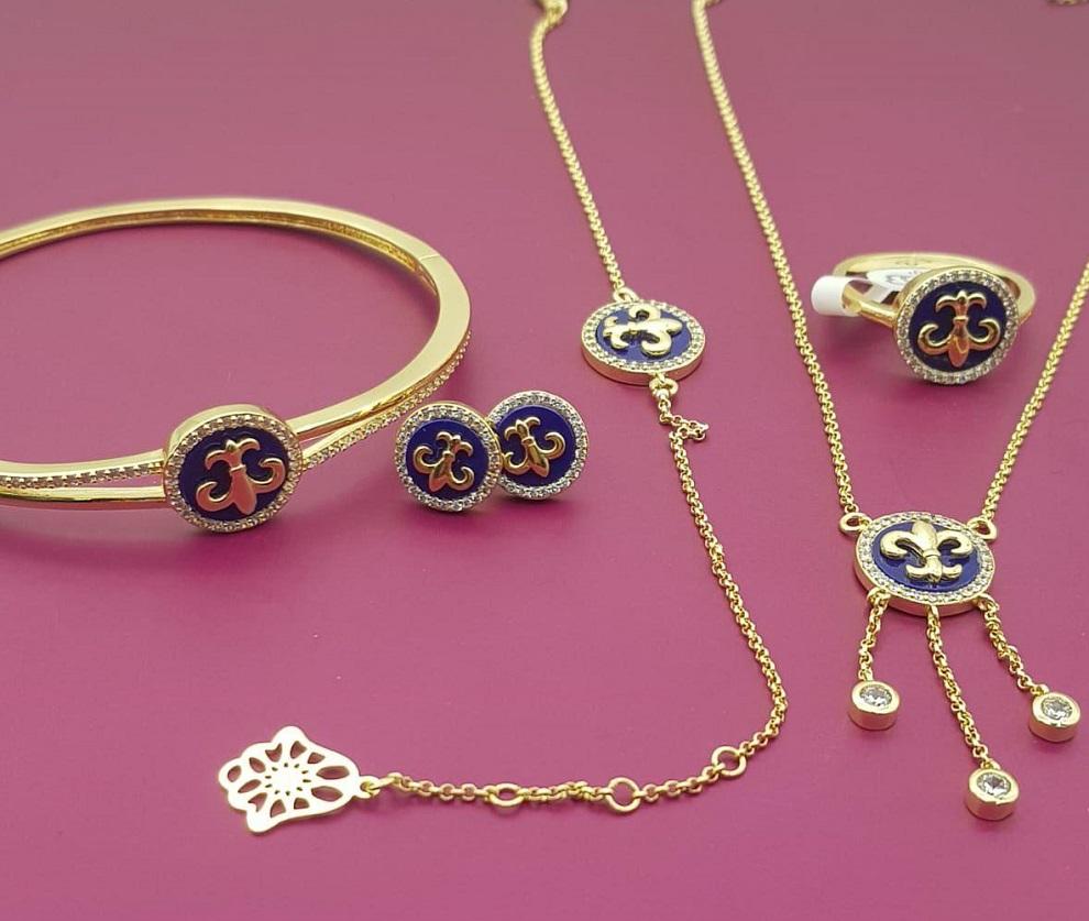 طقم 5 قطع مجوهرات بلاكيور مغربية عصرية
