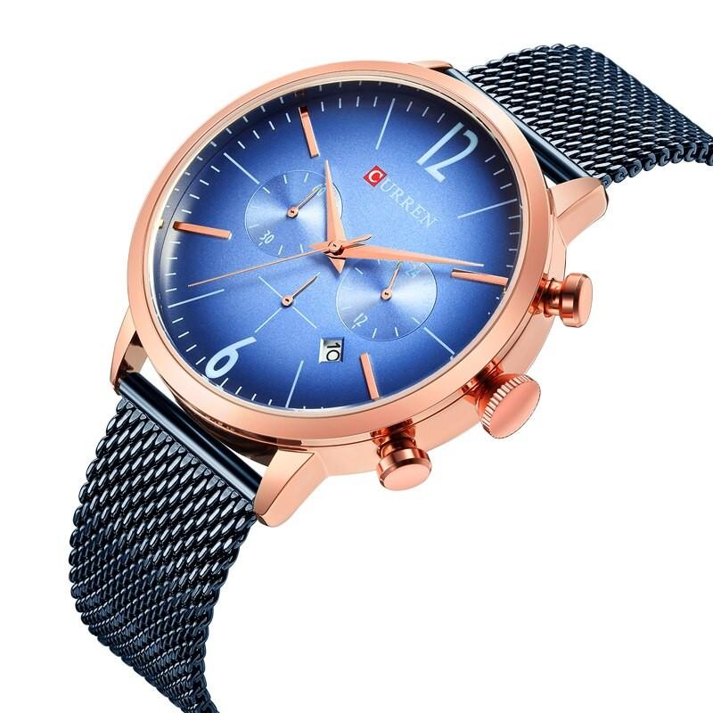 Montre Curren 8313 Bronze-Blue Homme Prix Maroc