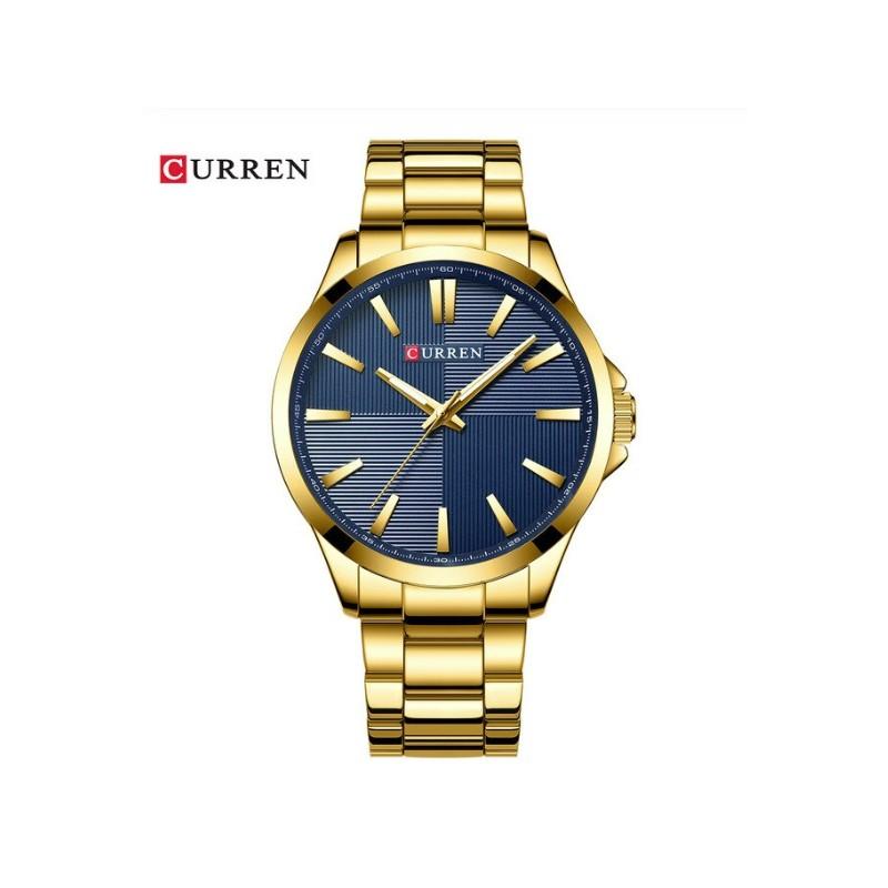 Montre Curren 8322 Gold-Bleu Homme Prix Maroc