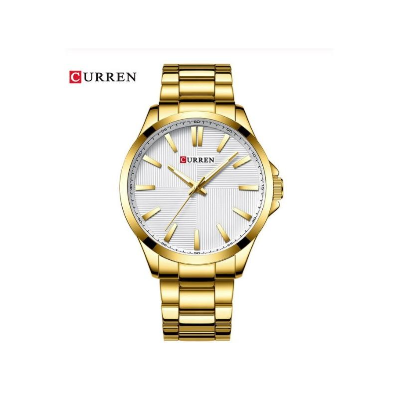 Montre Curren 8322 Gold-Blanc Homme Prix Maroc