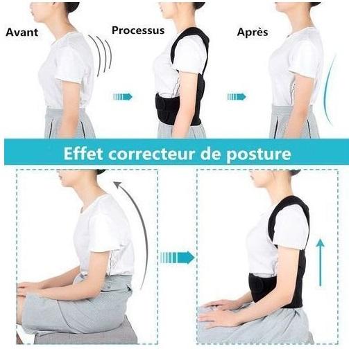 حزام الظهر والاكتاف لتقويم العمود الفقري علاج انحناء الظهر