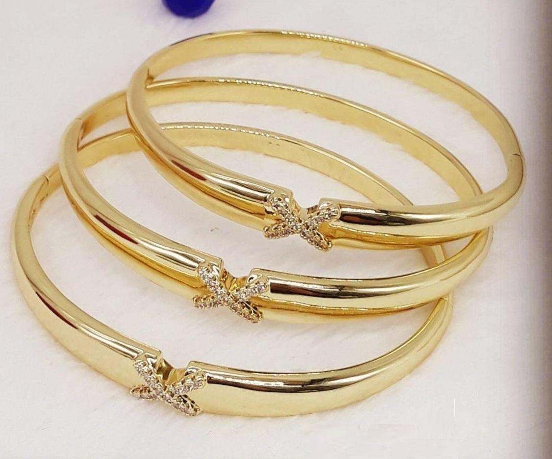 3 Bracelets Femme Plaqué Or