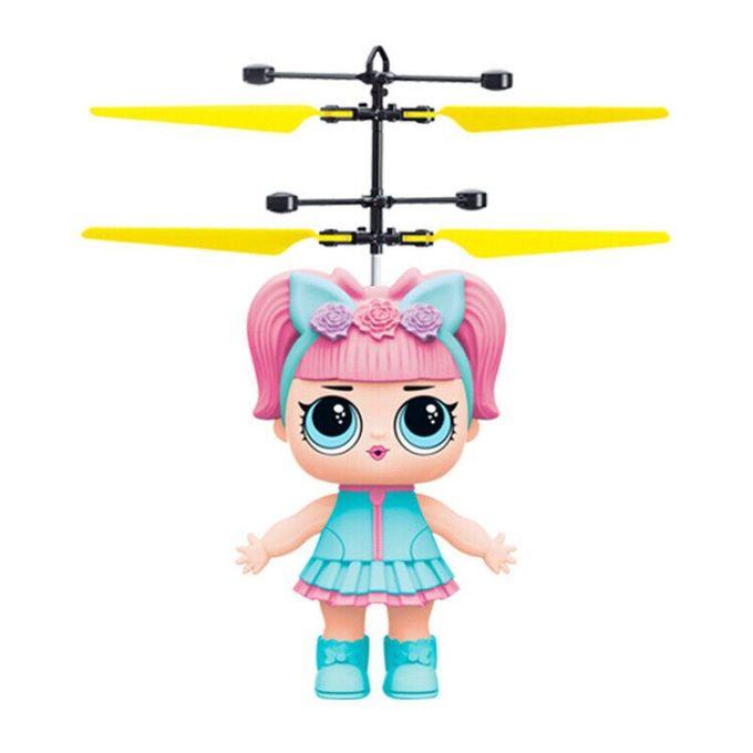 AIRCRAFT Poupée volante Mini drone pour les enfants et les adultes - rose & bleu