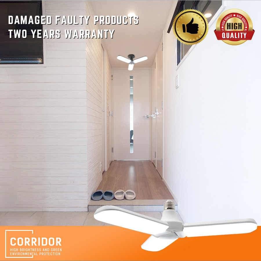 LED Lampe suspendue Pliable ventilateur lame Ampoules Tubes