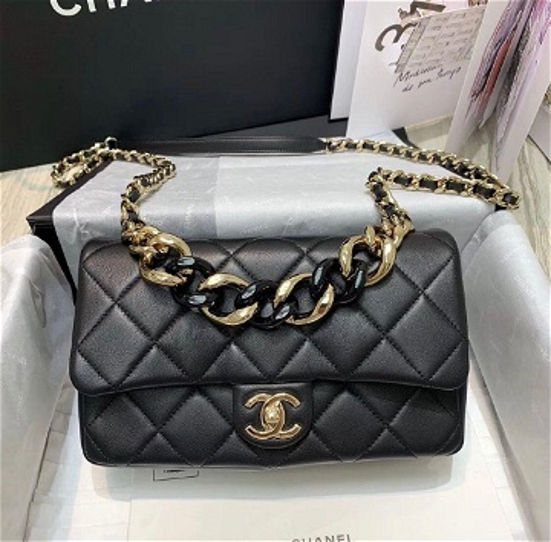 Flap Bag Noir