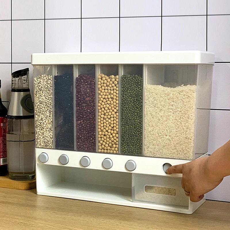 منظم ومخزن الحبوب والقطاني بطريقة جديدة ومبتكرة للمطبخ