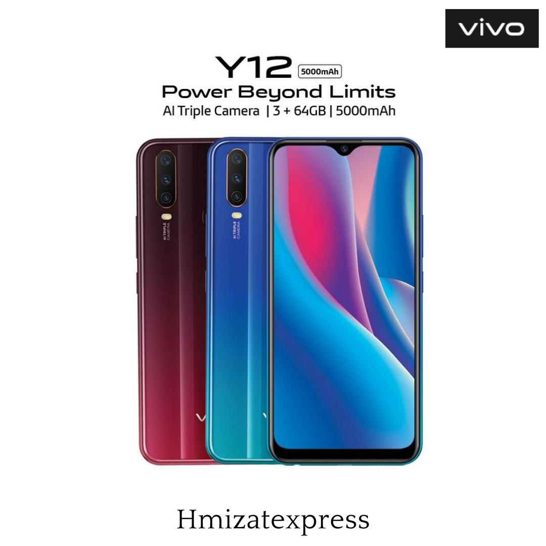 "Vivo Y12 6.35"" (3Go, 64Go) 13MP+8MP/8MP 5000mAH"