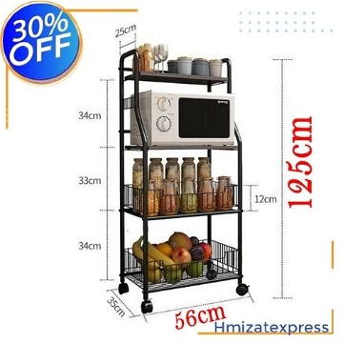 étagère de cuisine multifonctions, en acier au carbone 125cm
