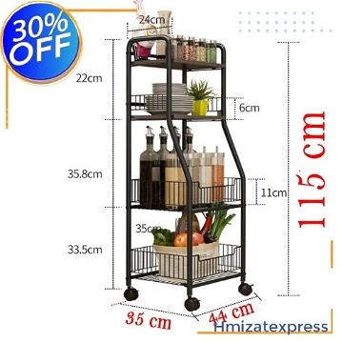 étagère de cuisine multifonctions, en acier au carbone  115 cm
